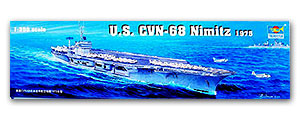 Trumpeter 1/350 scale model 05605 CVN-68 Nimitz nuclear-powered aircraft carriera