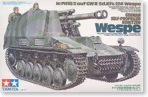 "TAMIYA 1/35 scale models 35200 Sd.Kfz.124 ""wild bee"" 10.5cm self-propelled howitzere"