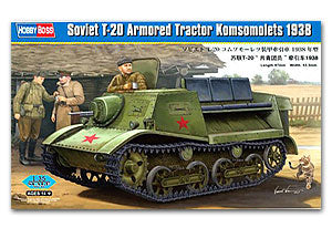 "Hobby Boss 1/35 scale tank models 83847 Soviet T-20 "" Communist Youth League & Tractor 1938"