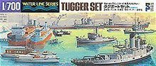 TAMIYA 1/700 scale model 31509 Japanese harbour tug group