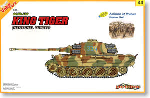 1/35 scale model Dragon 9144 Tiger King heavy chariots + armed warships Hansen battle group soldiers 1944