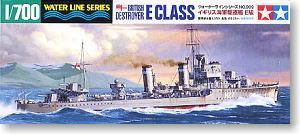 TAMIYA 1/700 scale model 31909 British Royal Navy class E destroyer