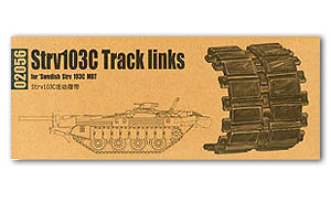 Trumpeter 1/35 scale model 02056 Strv103C chariot late track with movable link