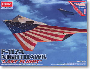 "ACADEMY 12219 F-117A Nighthawk light Bomber ""Last Flight"""