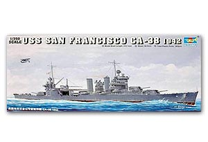 "Trumpeter 1/350 scale model 05309 New Orleans CA-38 ""San Francisco"" heavy cruiser"