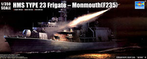 "Trumpeter 1/350 scale model 04547 British Royal Navy 23 ""Monmouth"" missile frigate"