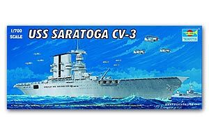 "Trumpeter 1/700 scale model 05738 Milek Startown CV-3 ""Saratoga"" Aircraft carriera"