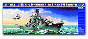 Trumpeter 1/350 scale model 04514 Russian Navy Modern Level I (956) missile destroyer