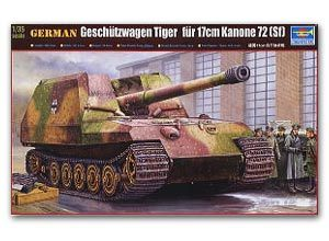 Trumpeter 1/35 scale tank models 00378 German cricket 170MM self-propelled cannon