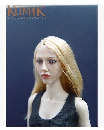 KNL HOBBY KUMIK KM-045 gold long hair beauty head sculpt