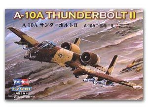 Hobby Boss 1/72 scale aircraft models 80266 A-10A lightning II attack aircrafts