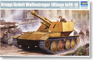 Trumpeter 1/35 scale model 01586 Krupp Weapon Carrier 10.5cm leFH-18 Howitzera