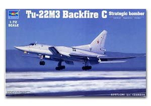 Trumpeter 1/72 scale model 01656 Tu-22M3 backfire C supersonic strategic bomber