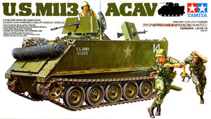 "TAMIYA 1/35 scale models 35135 US M113 ACAV cavalry attack armored vehicle ""Vietnam battlefield"""