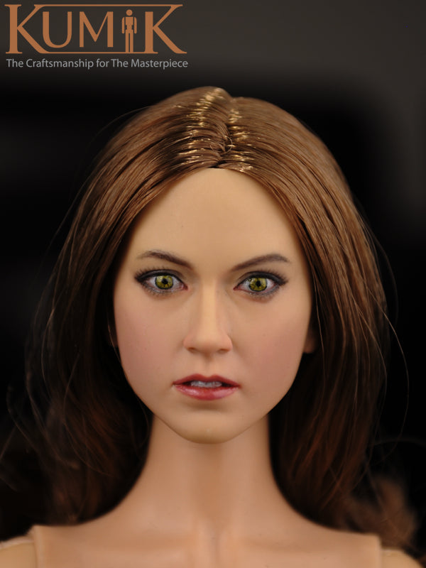 KNL HOBBY KUMIK KM 16-16 beautiful head sculpting female head sculpt 1/6 scale action figures