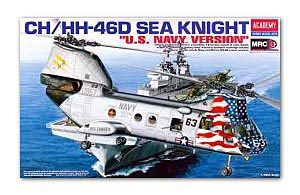 "ACADEMY 12207 CH / HH-46D Sea Knight transport helicopter carrier ""Navy"""