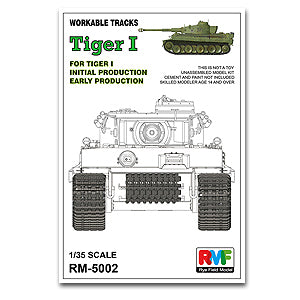Rye field model 1/35 RM5002 6 heavy truck tiger pre-type / very early with stitching activities tracks workable tracks