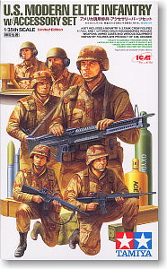 "TAMIYA 89772 US Army Modern infantry and chariot crew ""Gulf War"""