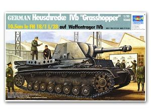 Trumpeter 1/35 scale tank models 00373 Germany IVb Grasshopper 10.5CM Self-propelled howitzera