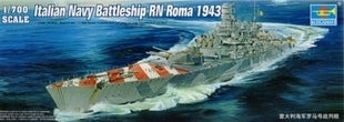 "Trumpeter 1/700 scale model 05777 World War II Italian Navy ""Rome"" rider"