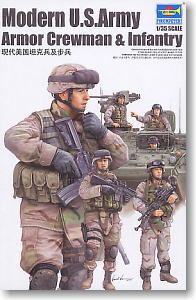 Trumpeter 1/35 scale soldier figure model 00424 Modern American Army Armor and Infantry