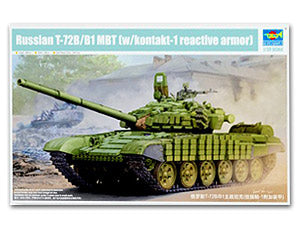 Trumpeter 1/35 scale tank model 05599 Russian T-72B/B1 main battle tank MBT with kontakt-1 reactive armor