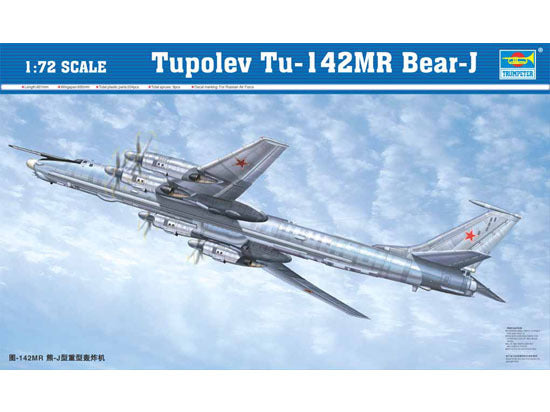 Trumpeter 1/72 scale model 01609 Tu-142MR Bear J Heavy bomber