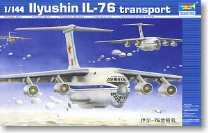 "TRUMPETER 1/144 scale model 03901 Il-76 ""upright"" large transport aircraft"