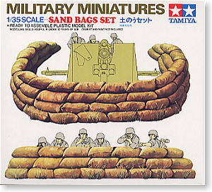TAMIYA 1/35 scale models 35025 military scene with sandbags bunker suit