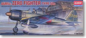 ACADEMY 2176/12493 A6M5c Mitsubishi Zero carrier fighter fifty-two type