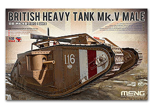"Presale MENG TS-020 British Mk.V ""male"" heavy tanks"