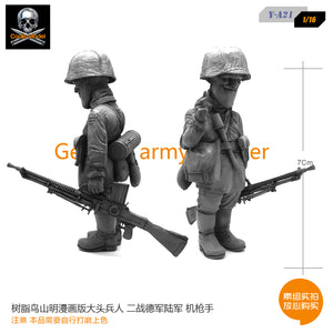 1/16 resin soldiers birds Yamamoto comic version of the bulk of the soldiers World War II Army Army gunmen model element A21