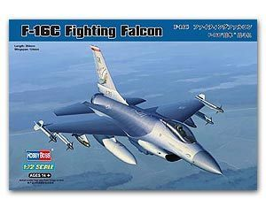 Hobby Boss 1/72 scale aircraft models 80274 F-16C falcon fighter