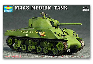 "Trumpeter 1/72 scale model 07224 M4A3""Sherman"" medium chariot"