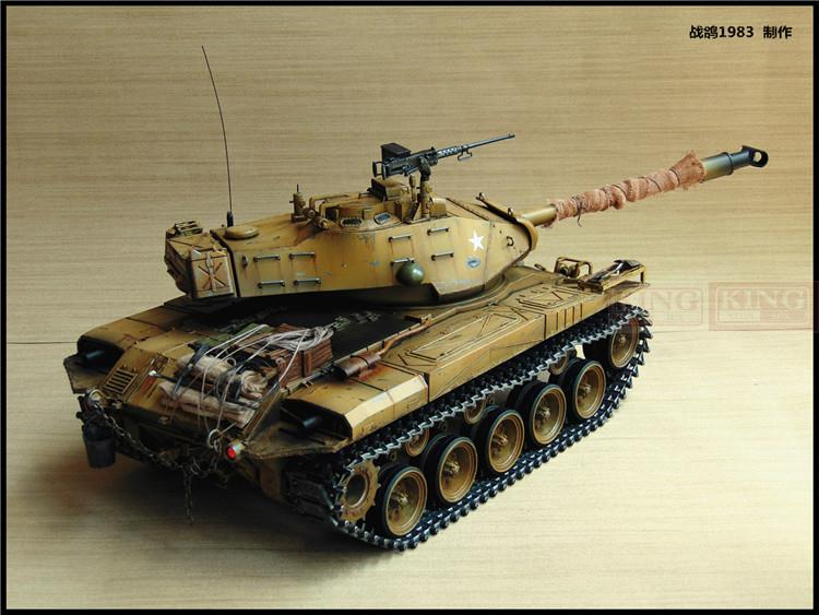 KNL HOBBY 1/16 RC Bulldog M41A3 tank model remote control OEM coating of paint to do the old HengLong