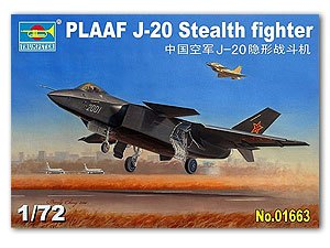 "Trumpeter 1/72 scale model 01663 Chinese J-20 ""Veyron"" fighter"