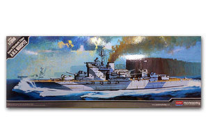 "ACADEMY 14105 Royal Navy Queen Elizabeth class ""war weariness"" Battleship"