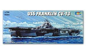 "Trumpeter 1/700 scale model war ship 05730 US Navy Essex class CV-13 ""Franklin"""