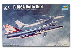 Trumpeter 1/48 scale model 02891 F-106A Triangle javelin interceptor