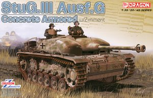 1/35 scale model Book Dragon 6891 Concrete Armored StuG.III Ausf.G w / Zimmerit
