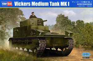 Hobby Boss 1/35 scale tank models 83878 Vickers Mk.I medium chariot
