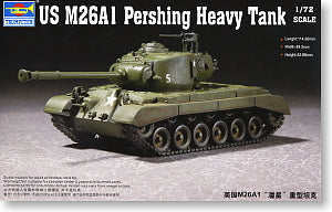 "Trumpeter 1/72 scale model 07286 United States M26A1""Pershing"" heavy chariot"