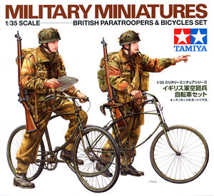 TAMIYA 1/35 scale models 35333 World War II British paratroopers and empty bikes