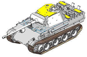 1/35 scale model Book Dragon 6897 Panther Ausf.G Late Production
