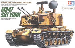 "TAMIYA 1/35 scale models 35126 US M247 SGT YORK ""York Sergeant"" motorized air defense systems"