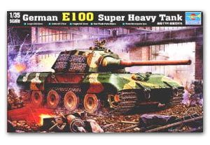 Trumpeter 1/35 scale model 00384 Germany E-100 super heavy-duty plan chariot