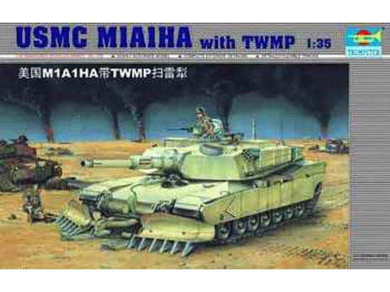 "Trumpeter 1/35 scale tank models 00335 M1A1HA ""Ebran"" main battle tank with TWMP demolition shovel"