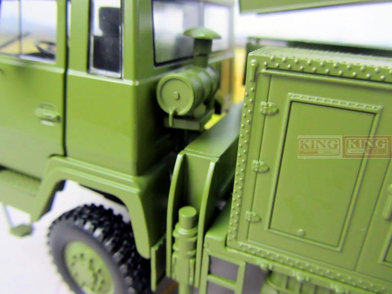 KNL Hobby Diecast Truck Steyr modified Meterwave radar vehicle model JY-27 radar vehicle Steyr truck model 1/30 for Chinese Army PLA