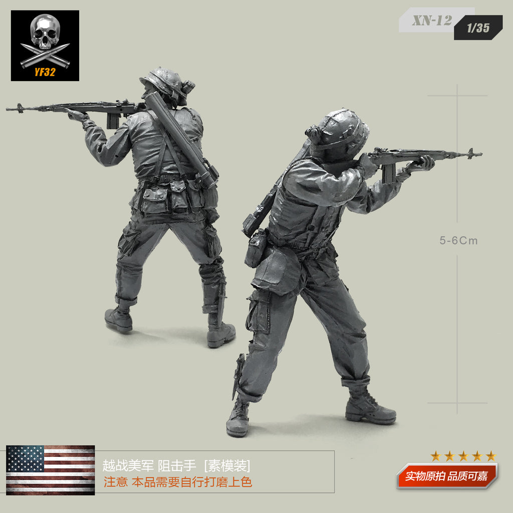 1/35 Vietnam War US Army Shooter Resin Soldier Model XN-12