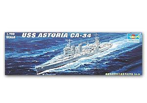"Trumpeter 1/700 scale model 05743 New Orleans CA-34 ""Astoria"" cruiser"